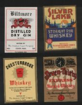 Collectible whisky whiskey bottle labels selection #027